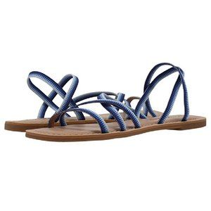 Lucky Brand Sandals Bizell Blue Combo Leather